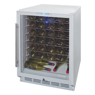 58 Bottle Wine Cooler White