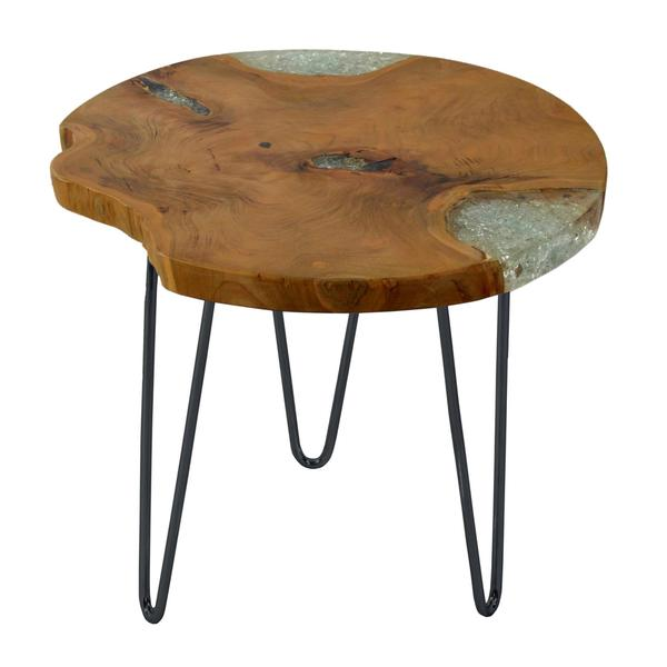 Decorative Blakely Brown Wooden Round End Table 17276381