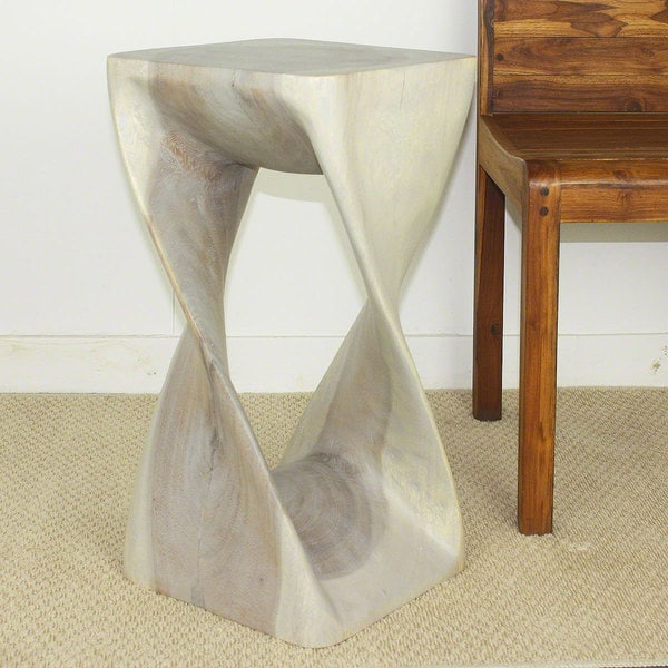 Twist Agate Grey Oil Stool (Thailand)