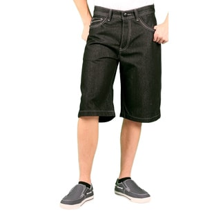 MO7 Men's Black Denim Shorts