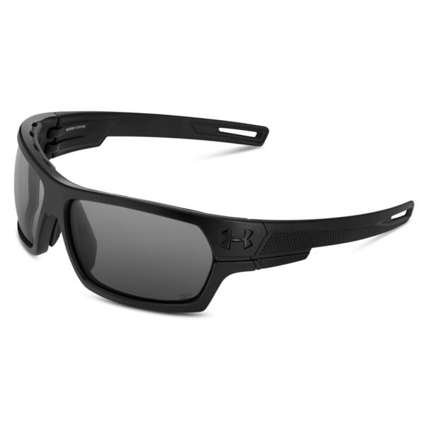 Under Armour Battlewrap Satin Black with Grey Sunglasses
