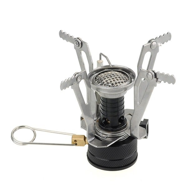 Patuoxun Portable Outdoor Picnic BBQ Mini Backpacking Canister Camp Stove Burner with Piezo Ignition