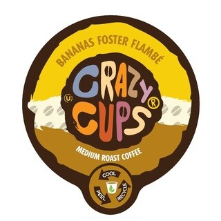 Crazy Cups 'Banana Foster Flambe' Single Serve Coffee K Cups (22-count)