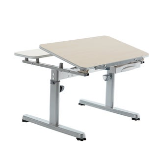 Kid 2 Youth Kids' Maple/ Silver Ergonomic Sit-to-Stand Desk
