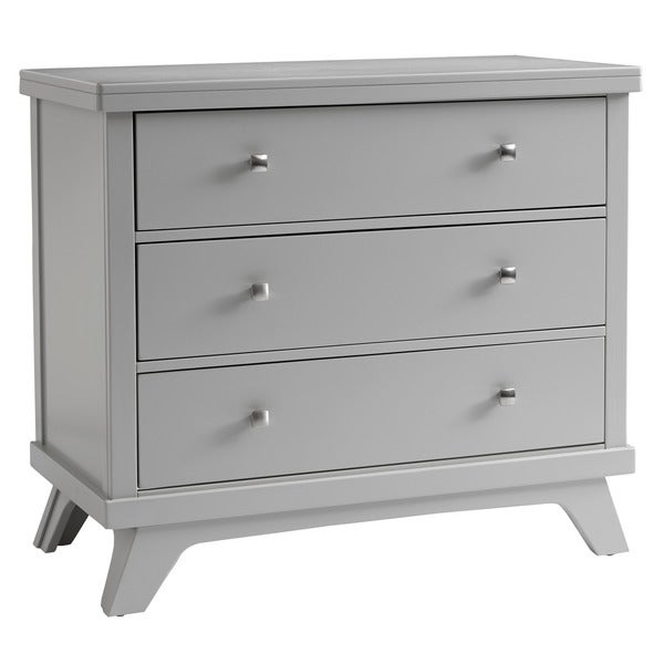 Sealy Bella Tranquility Grey Mid-century 3-drawer Dresser