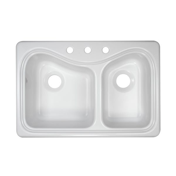 Lyons Deluxe Connoisseur Dual High-Low Bowl Acrylic Kitchen Sink