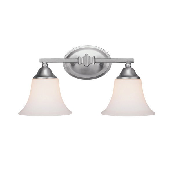 Capital Lighting Town and Country Collection 2-light Matte Nickel Bath/Vanity Light