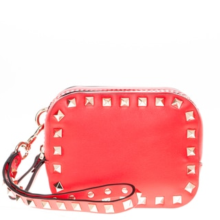 Valentino Rockstud Red Double Compartment Wristlet