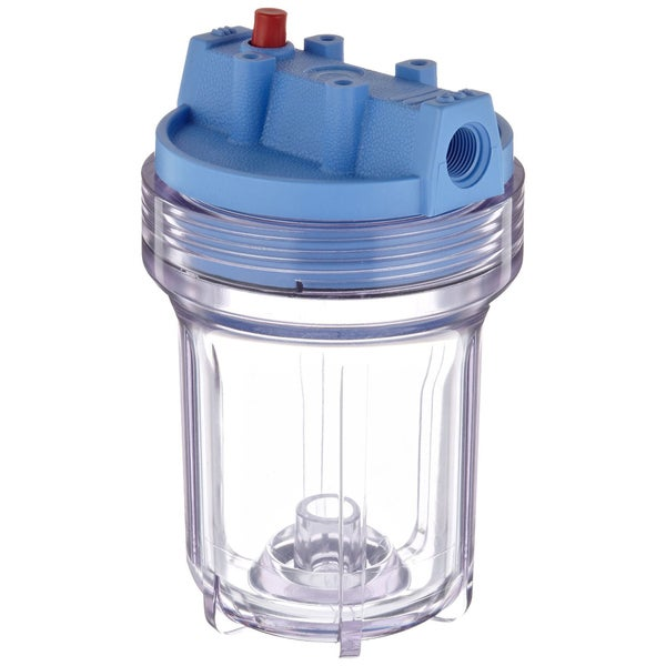 Pentek 158110 0.38-inch #5 Clear/ Blue Water Filter Housing