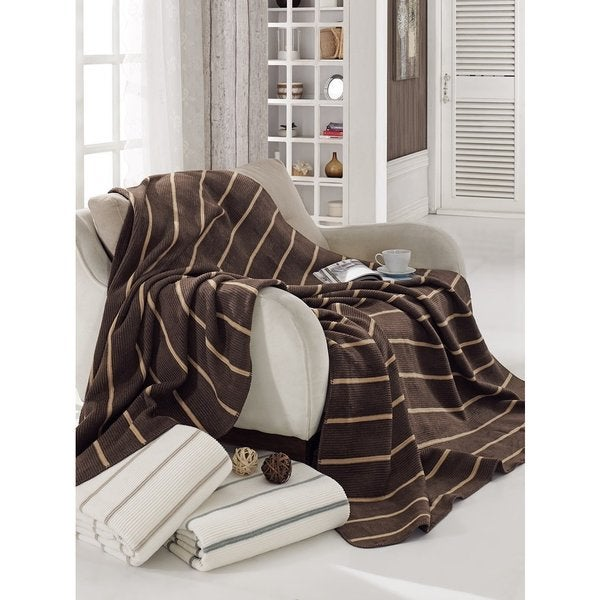 Soft Cotton Cozy Reversible Throw Imported From Europe Throws