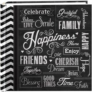 2Up Chalkboard Print Album 200 4inX6in PocketsHappiness