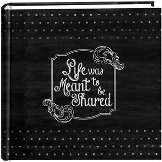 2Up Chalkboard Print Album 200 4inX6in PocketsShared