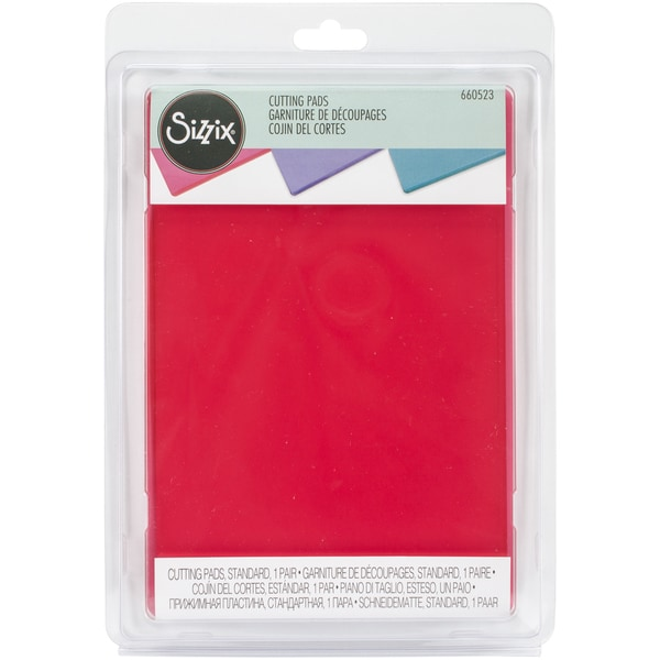 Sizzix Cutting Pads 6.125inX8.875in 1 PairStandard/Watermelon