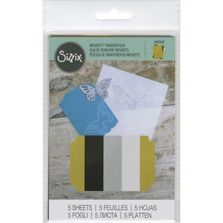 Sizzix Inksheets Transfer Film Sheets 4inX6in 5/PkgAssorted Gold, Silver, White & Black