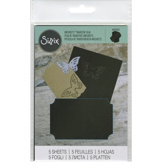 Sizzix Inksheets Transfer Film Sheets 4inX6in 5/PkgBlack
