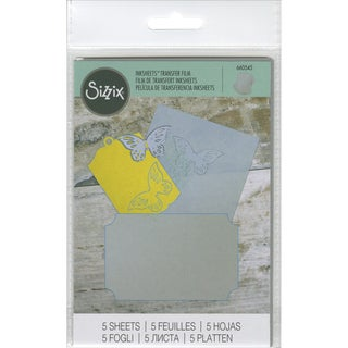 Sizzix Inksheets Transfer Film Sheets 4inX6in 5/PkgSilver