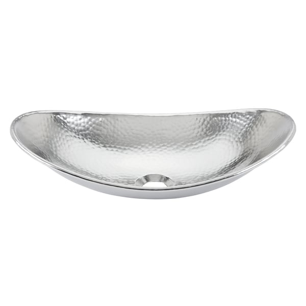 Sinkology Faraday 18 in. Vessel Sink Handcrafted in Hammered Nickel