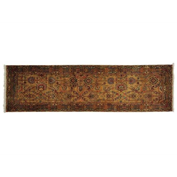 Handmade Runner Golden Age Tabriz Design Oriental Rug (2'7 x 9')