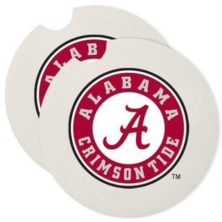 Alabama Crimson Tide Absorbent Stone Car Coaster (Set of 2)