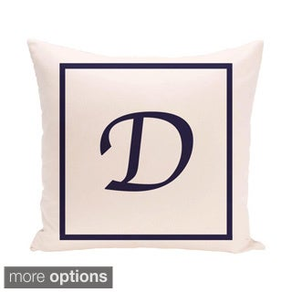 Ivory 20 x 20-inch Monogram Print Decorative Pillow