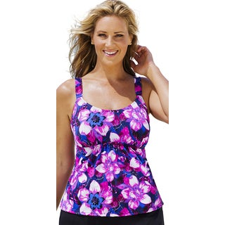 Beach Belle Women's Exotic Travels Flared Tankini Top