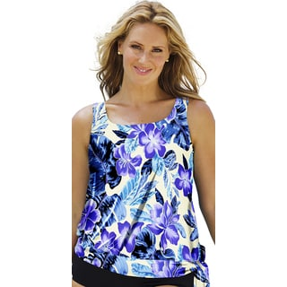 Beach Belle Women's Dockside Blouson Tankini Top