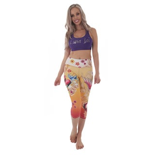 Luna Jai Women's 'Twin Birds' Athletic Capris