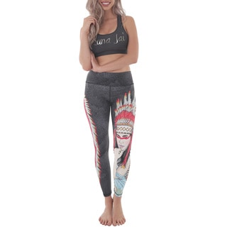 Luna Jai Women's 'Native Heart' Active Athletic Pants