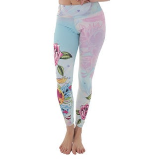 Luna Jai Women's 'Dagger and Roses' Active Athletic Pants