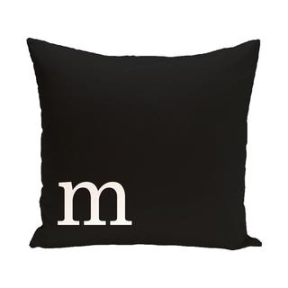 Black and White 20 x 20-inch Monogram Print Decorative Pillow