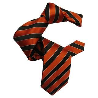 Dmitry Men's Orange Italian Silk Tie