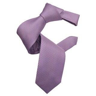 Dmitry Men's Lavender Patterned Italian Silk Tie