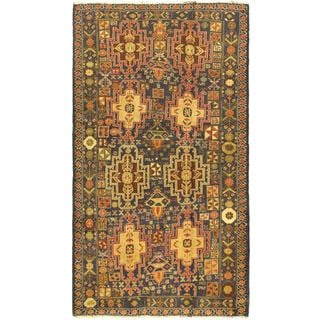 Ecarpetgallery Tora Bora Brown Wool Open Field Rug (3'10 x 6'8)