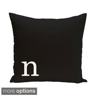Black and White 16 x 16-inch Monogram Print Decorative Pillow