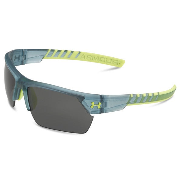 Under Armour Igniter 2.0 Satin Crystal Grey and High VIS Yellow with Multiflection Sunglasses