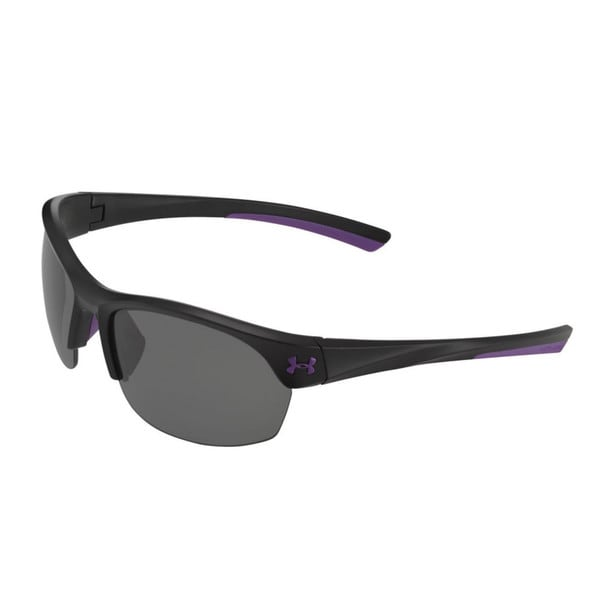 Under Armour Marbella Satin Black and Purple with Multiflection Sunglasses