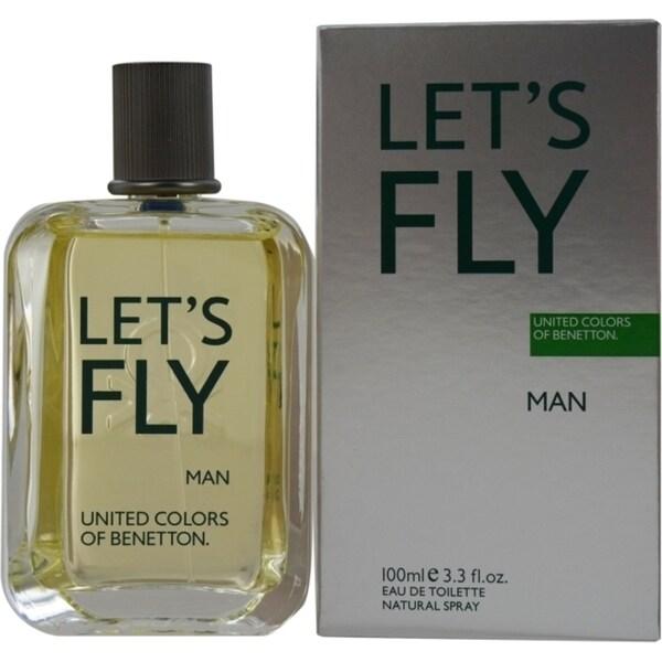 Benetton Let's Fly Men's 3.4-ounce Eau de Toilette Spray