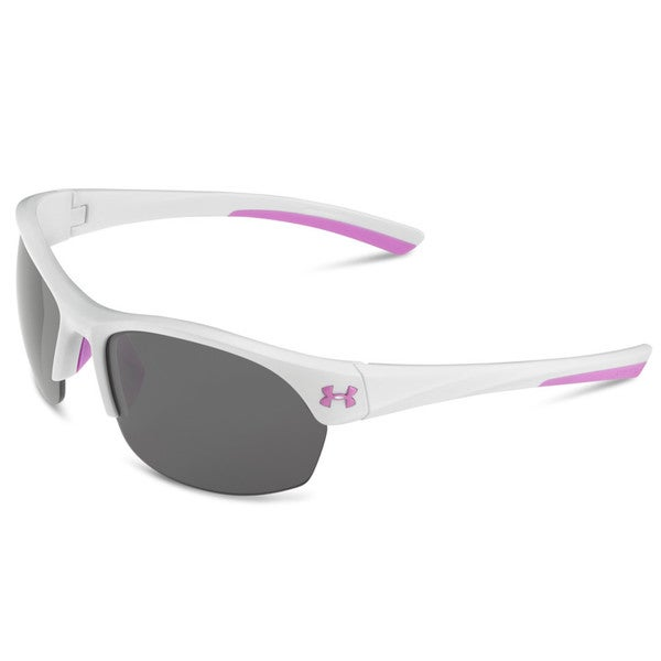 Under Armour Marbella Shiny White and Pink with Multiflection Sunglasses