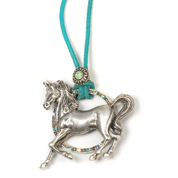 Sweet Romance Circle Ranch Pony Necklace