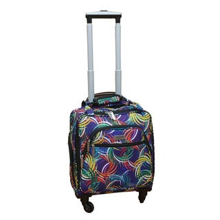 Chocolate New York Swirl Under-seat Carry-on Spinner Tote