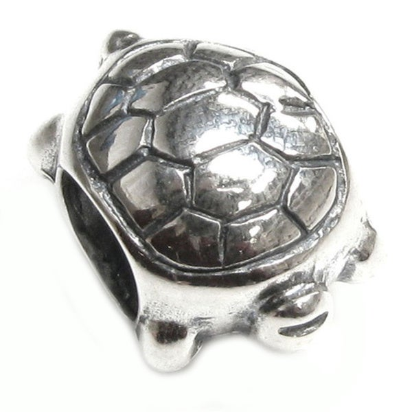 Queenberry Sterling Silver Sea Turtle European Bead Charm