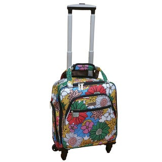 Chocolate New York Sunshine Under-seat Carry-on Spinner Tote