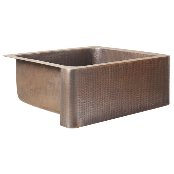 7 Inch Apron Front Sink : ... Apron Bow Front Handmade Copper Sink 33 in. Single Bowl Kitchen Sink