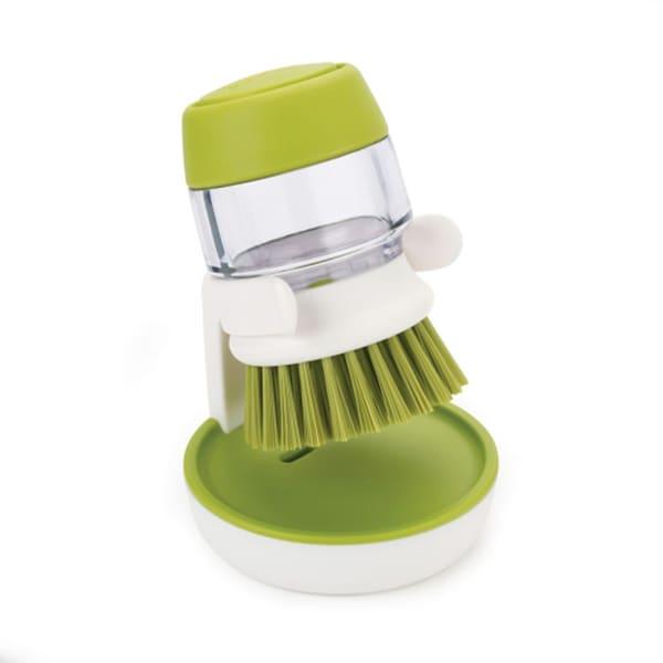 Joseph Palm Scrub Soap Dispensing Brush with Storage Stand