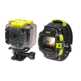 Coleman Conquest2 CX16WP+LCD 1080p HD 16MP Wi-Fi Helmet and Action Camcorder with Streaming LCD Watch and Mount