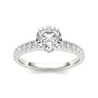 De Couer 14k White Gold 1 1/2ct TDW Diamond Classic Engagement Ring (H-I, I2)
