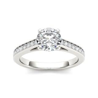 De Couer 14k White Gold 1 1/4ct TDW Diamond Elegant Engagement Ring (H-I, I2)