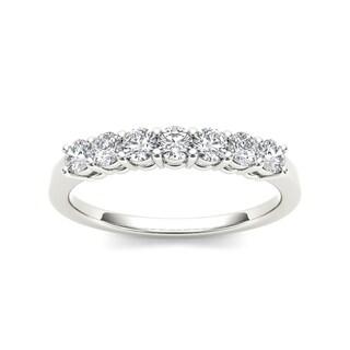De Couer 14k White Gold 5/8ct TDW Diamond Wedding Band (H-I, I2)
