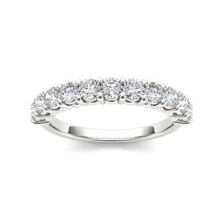 De Couer 14k White Gold 1 3/4ct TDW Diamond Wedding Band (H-I, I2)