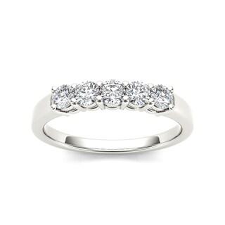 De Couer 14k White Gold 1/2ct TDW Diamond Wedding Band (H-I, I2)